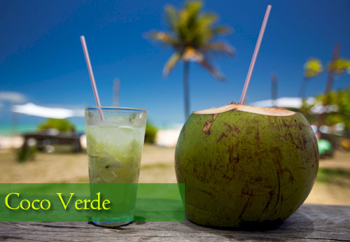 Coco verde bebida